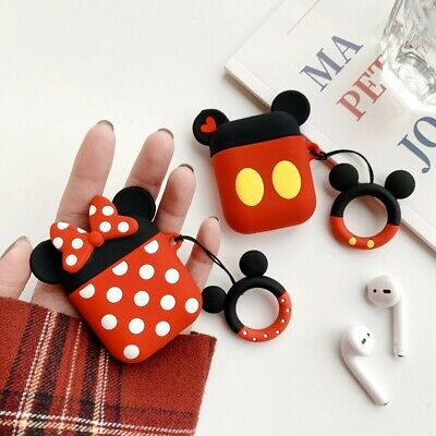 Cute Disney Minnie Earphone Cover for Apple Airpods Charging Case Holder Bag