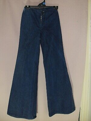 1970's Vintage Wide Flared Denim Jeans - with Tag.
