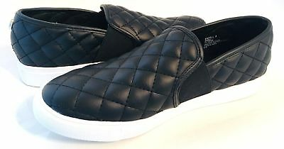 f4be6f84b3c New Steve Madden ENDELL Black Quilted LOW TOP Fashion Sneaker Women s 6.5M  - 10M