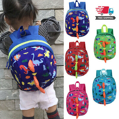 Kids Baby Safety Harness Bag with Reins Toddler Cartoon Dinosaur Strap Backpack