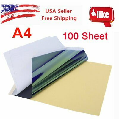 100 Sheet A4 Sublimation Heat Transfer Paper for Mug Cup Plate Cotton T Shirt ZM