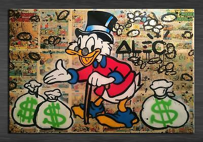 Alec Monopoly HD Print on Canvas Art Decor Duck and money 24x32inch / Frameless