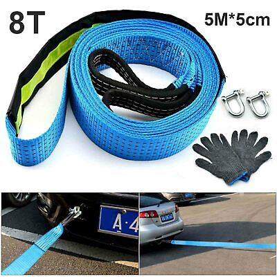 Perfect 8T Heavy Duty Tow Rope  Pull Strap Winch Tree Strop 4x4 Offroad Recovery