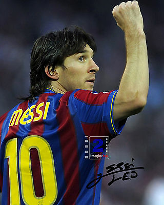 "Lionel Messi Argentine footballer 8""x 10"" Great Signed Color PHOTO REPRINT"
