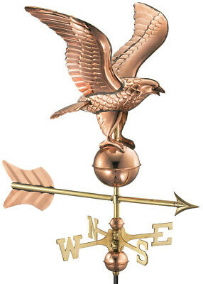 Good Directions Eagle Garden Weathervane 53 in. Pole Pure Polished Copper