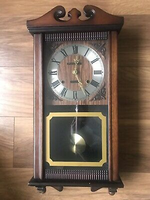 Lovely President Vintage Wind-up 31 Day Wall Clock. Chimes and With Pendulum