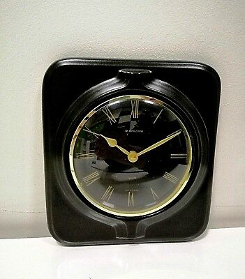 Vintage Art Deco style Ceramic Kitchen Wall clock JUNGHANS Made in Germany