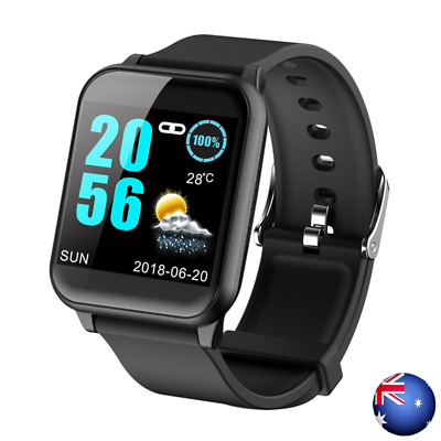 Waterproof Smart Watch Heart Rate Blood Pressure Fitness Tracker for iOS Android