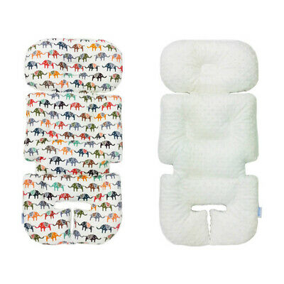 Microfiber Stroller Seat Liner Baby Pretty Head Shape Inducing Pillow Elephant