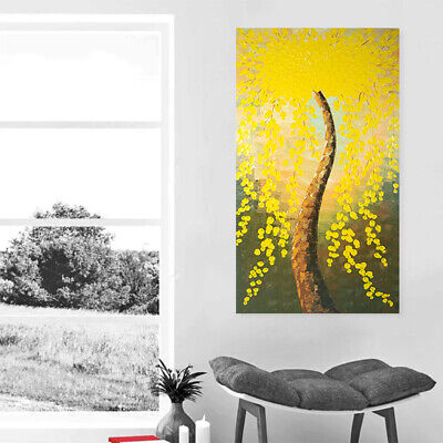 Hand Painted Oil Painting Abstract Wall Art Home Decor - Framed Flower Tree