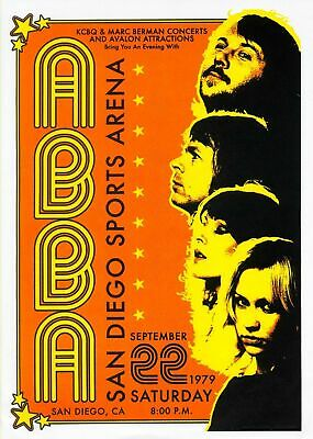 Abba 1979 Concert - VINTAGE BAND POSTERS Music Rare Rock Blues Old Advert #ob
