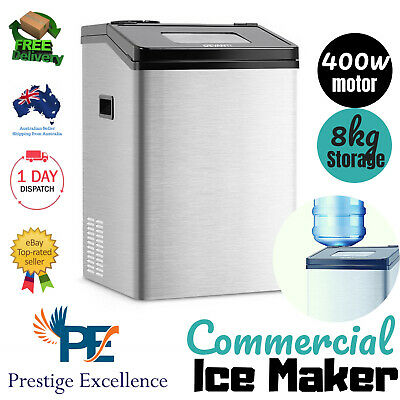 Commercial Portable Ice Maker Stainless Steel Water Dispenser Machine 8kg Fridge