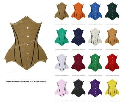 Heavy Duty 26 Double Steel Boned Waist Training Satin Underbust Corset #8522-BT