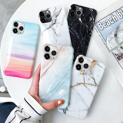 Granite Marble Soft Silicone Phone Case Skin Cover For iPhone XS MAX XR 8 7 6S 6