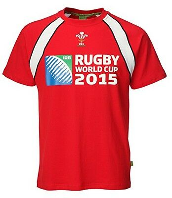 WRU Official Wales RWC Welsh Rugby World Cup 2015 T-Shirt SIZE Medium BOX84 45 R