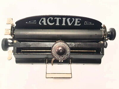 Antigua maquina de escribir  ACTIVE index , rare antique TYPEWRITER