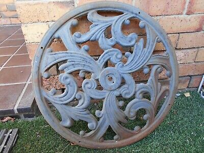 Extremely Heavy Antique Cast Iron Ceiling Rose Garden Feature