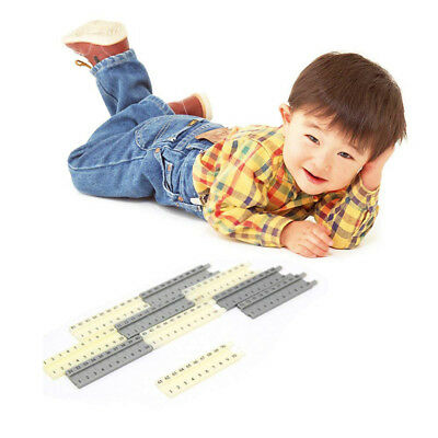 Montessori Number Building Block Toys Kids Child CM Length Math Learning Toy PF