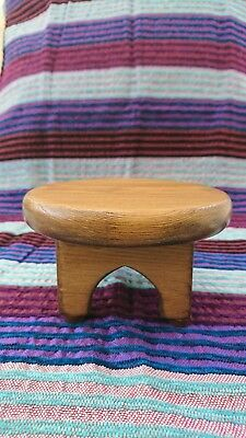 Moroccan Style Hand Made Wooden Display Table Plant Stand X Small Light Brown