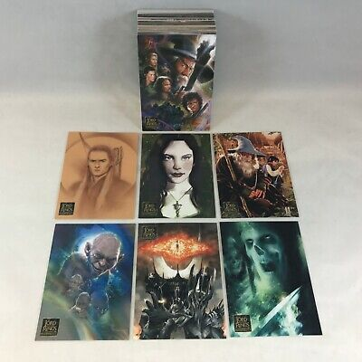 LORD OF THE RINGS: MASTERPIECES SERIES 2 2008 Complete Card Set (ALL NEW ART)