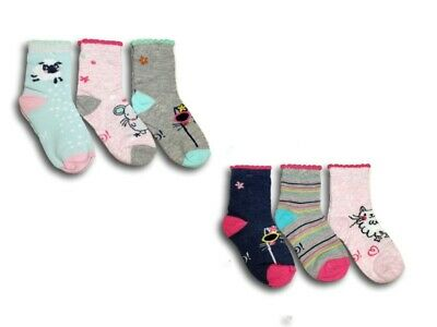 Baby Toddler Girl Kids Cotton Soft Socks 3 Pairs Multi Buy Size 6 months 3 Years