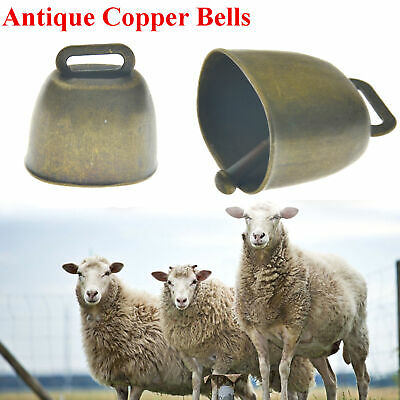 Antique Loud Grazing Copper Bells Sheep Dog Cow Horse Animal Brass Casting