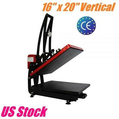 "16""x 20"" Heat Press Machine Vertical Clamshell T-shirt Heat Transfer Sublimation"