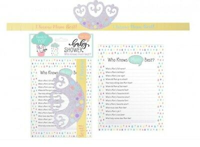 Who Knows Mummy Best Cards New Mum To Be Baby Shower Games Game Names Guessing