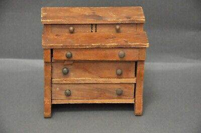 Vintage Dollhouse Miniatures The Country Carpenter Wooden Work Chest Drawer
