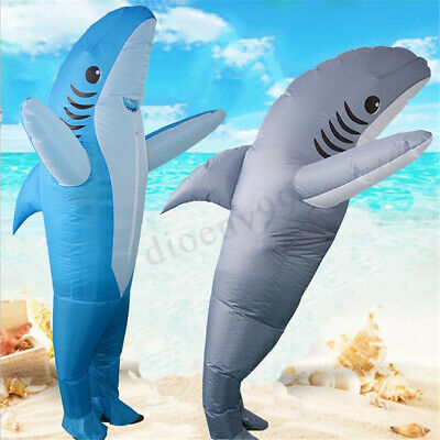 Inflatable Costumes Shark Animal Adult Fancy Funny Scary Dress Up Party Costume