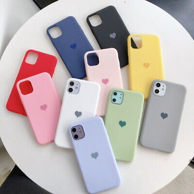 Case For iPhone 8 7 6S Plus XR XS MAX ShockProof Soft Heart Phone Cover Silicone