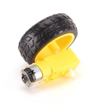 Arduino Smart Car Robot Plastic Tire Wheel with DC 3-6v Gear Motor for Robot 9UK