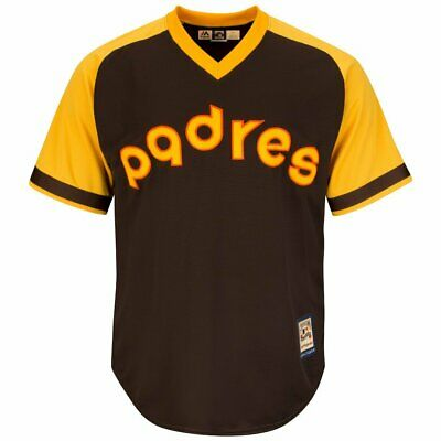 SMALL Mens Majestic SAN DIEGO PADRES Cooperstown MLB Jersey Baseball Shirt B