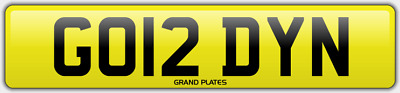 Gordy N number plate GO12 DYN Cherished car reg GORDON GORDIE GORD NO ADDED FEES