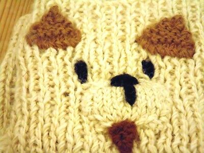 Alpaca Hand Knitted 'face' Childrens Scarf