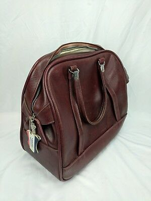 Vintage American Tourister Brown Travel Carry On Retro Luggage Bag - Maroon