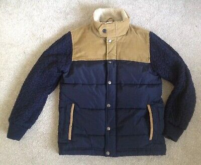 GAP Kids For Boys Spring Navy / Tan Jacket Size XL 12-13yrs Ex Con