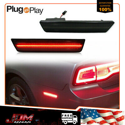 Smoked Red Led Rear Side Marker Lights For 08 14 Dodge Challenger 11