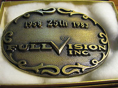 1958-1983 25th Anniversary  Full Vision Inc. Belt Buckle  Flat ZA
