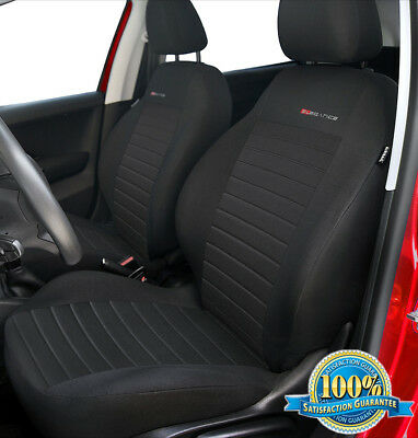 Front Car seat covers fit Mazda 2 - charcoal grey (P4)
