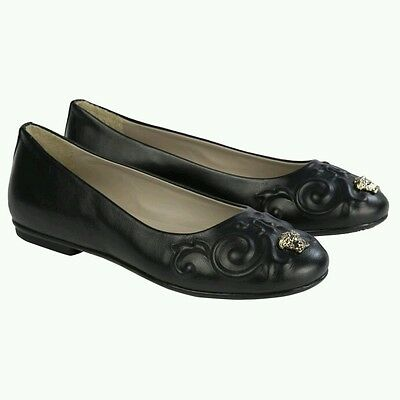 Young Versace Girls Black Leather Sandals BNWT