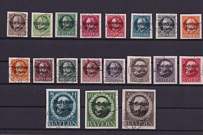 Bavaria  State Issue Used Imperf Overprints Stamps Cat £875  Ref R4131