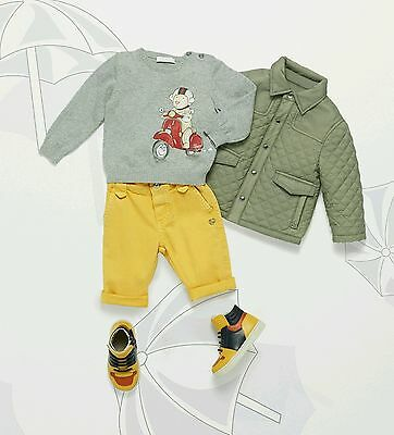 733967889 NWT NEW GUCCI baby boys blue red web 2in1 puffer jacket coat vest 24 ...