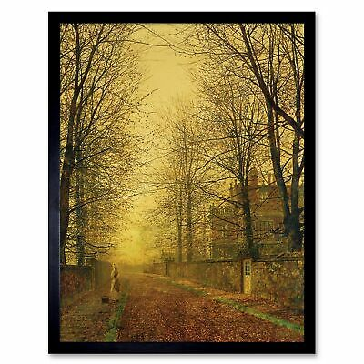John Atkinson Grimshaw Paintings Autumns Golden Glow Painting Framed Art Print