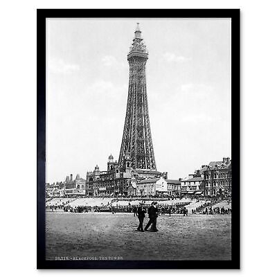 "P15 Vintage 1890/'s Photochrom Photo North Pier Blackpool Tower Print A3 17/""x12/"""