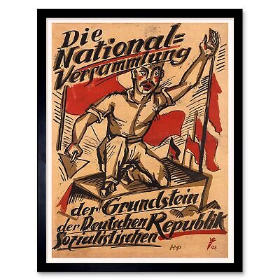 ADVERT WEIMAR GERMANY STRANGLE YOUNG FREEDOM YOUTH FLAG ART POSTER PRINT LV7055