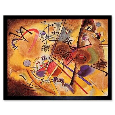 Wassily Kandinsky Abstract Small Dream Red Old Painting 12X16 Inch Framed Print