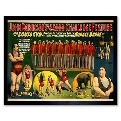 Stongest Man on Earth Huge 24x48! Poster 1890s Louis Cyr Strongman