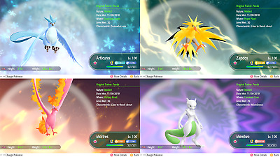 Pick Any Shiny (All 171) Mew Melmetal Max 6 Iv Max Ax Pokemon Lets Go Instant