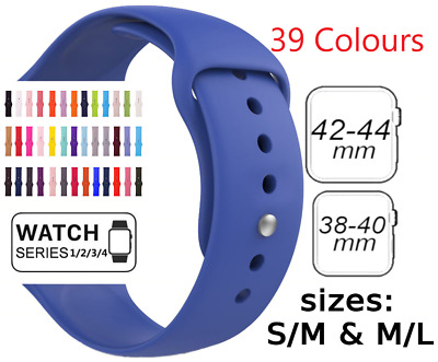Sports Silicone Bracelet Strap Band For Apple Watch Series 5 4 3 38 40 42 44mm